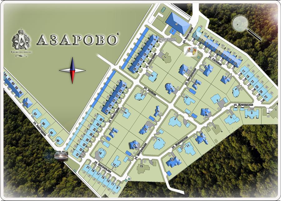 Интерактивная схема поселка Рублевские имения Азарово